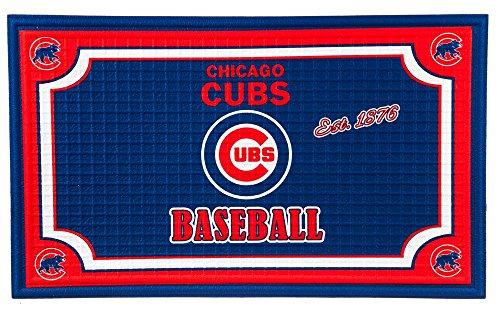 Team Sports America Chicago Cubs Embossed Floor Mat,