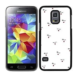 Funda carcasa para Samsung Galaxy S5 Mini diseño ilustración estampado labios rojo borde negro