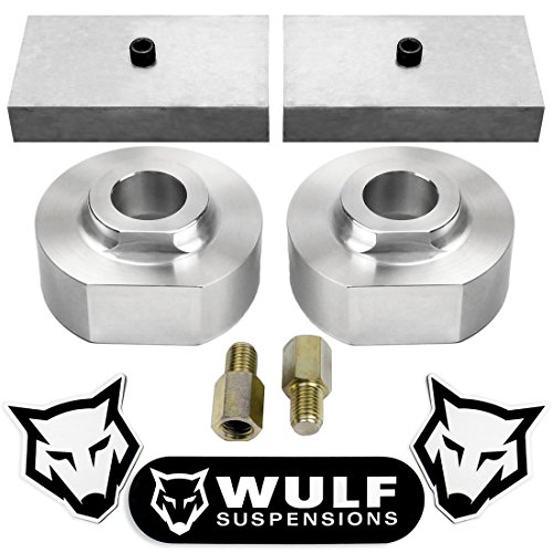 """WULF Suspensions 1999-2018 Ford F250 F350 F-250 F-350 Super Duty 2WD 4X2 2"""" Front + 1"""" Rear Lift Leveling Kit"""