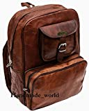 Handmade World Vintage Laptop Leather Backpack Lightweight School College Bag Rucksack Fits 15-inch Notebook Computer Review
