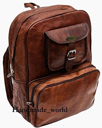 Handmade_world Vintage Laptop Leather Backpack Lightweight School College Bag Rucksack Fits 15-inch Notebook Computer