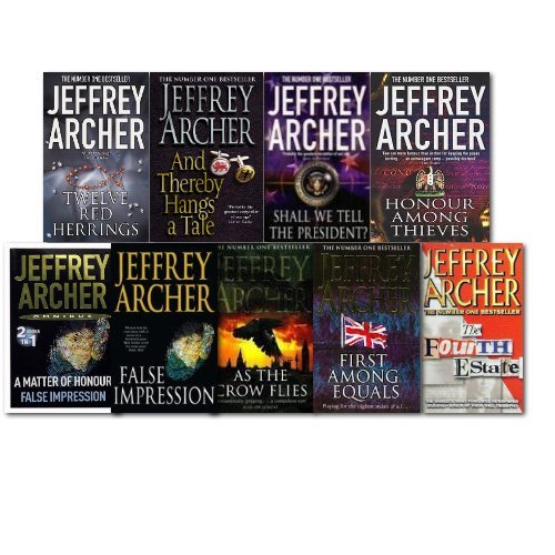 Jeffrey Archer Collection 8 Books 9 Title Set, (Flase Impression, As the Crow Flies, Shall We the President?, A matter of Honour, Twelve red herrings, Honour among thieves, The Fourth Estate and And Thereby Hangs a tale)