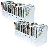 Evelots Set of 12 Magazine File Holders Desk Organizer, File Storage with Labels