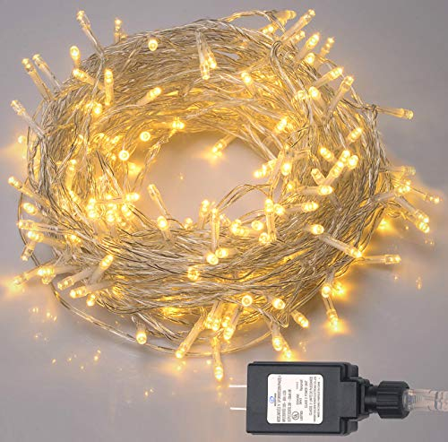 (Dazonge Indoor String Lights, 82ft 200LEDChristmas Lights with 29V Low Voltage Transformer, 8 Modes Warm White Fairy Lightsfor Thanksgiving,Christmas, Holiday, Festival, Wedding, Party)