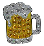 Navika Beer Mug Swarovski Crystal Ball Marker with Hat Clip