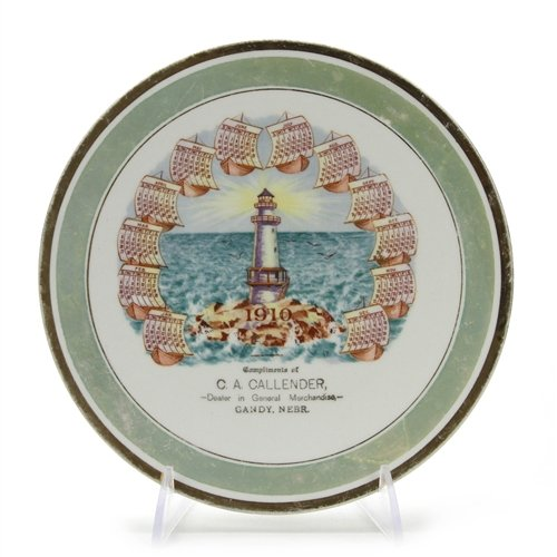 Pope Gosser Collector Plate by, China, Gandy Nebraska Calendar Plate