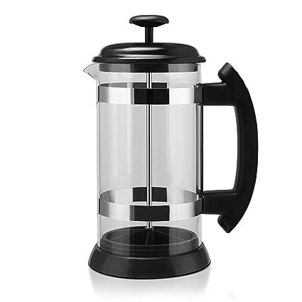 ZUEN Máquina de café, Acero Inoxidable francés máquina de café 1L Filtro Pot Filtro Taza