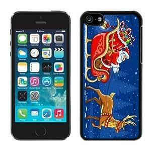 MMZ DIY PHONE CASECustomization iphone 6 plus 5.5 inch TPU Case Santa Claus Black iphone 6 plus 5.5 inch Case 6