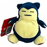 SNORLAX 1998 Pokemon Bean Bag Plush 6""