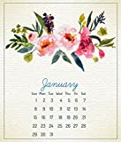 2018 12 Month CD Calendar January – December 2018, Beautiful Floral Design, in CD Jewel Case Holder, Beautiful Printed on  Nice Quality Paper Reviews