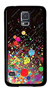 Samsung Galaxy S5 Cases & Covers - Colored Dot PC Custom Soft Case Cover Protector for Samsung Galaxy S5 - Black