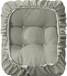 "TINTON LIFE Padded Rectangle Bar Stool Cover Cushion with Elastic Fabric Satori Stool Seat Cushion for Metal Wooden Bench 12""x16"" Grey"