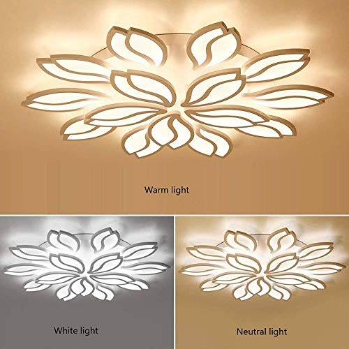 PLLP Home Bedroom Ceiling Light,Led Ceiling Light Indoor Flush Mount Ceiling Lamp Modern Flower Shape Ceiling Illumination Acrylic Pendant Fashion Fixture Ideal for Lounge, Entrance, Living Room and