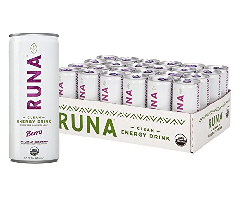 RUNA Organic Clean Energy Drink from the Guayusa Leaf, Berry, 8.4 Ounce (Pack of 24)