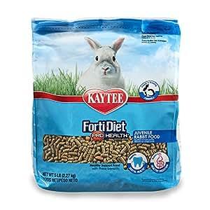 Kaytee Forti Diet Pro Health Rabbit Food For Juvenile Rabbits, 5-Pound