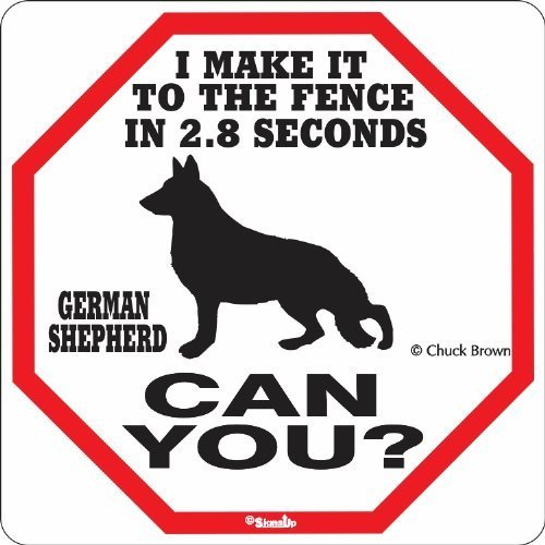 (German Shepherd 2.8 Seconds Sign)