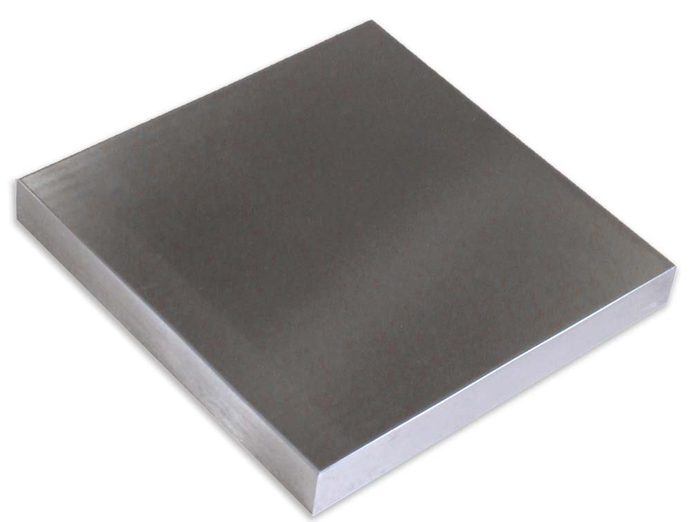 Solid Steel Bench Block - 5-3/4 x 5 3/4 x 3/4 Inches