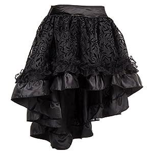 Bslingerie Womens Steampunk Vintage Medieval Dress Skirt