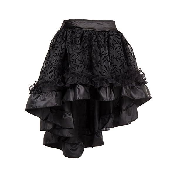 Bslingerie Womens Steampunk Vintage Medieval Dress Skirt 4