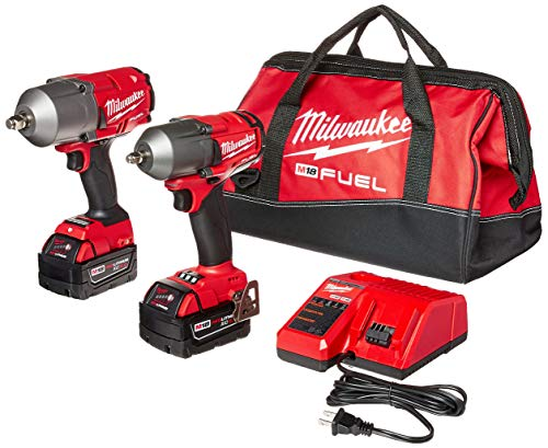 Milwaukee 2 PC M18 FUEL Auto Kit – 1 2 Impact Wrench and 3 8 Impact Wrench