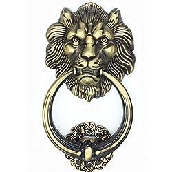 UniDecor Large Antique Lion Door Knocker Lion Head Door Handle