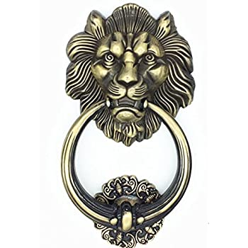 UniDecor Large Antique Lion Door Knocker Lion Head Door Handle