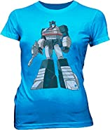 Transformers Optimus Prime Distressed Carolina Blue Juniors T-shirt Tee