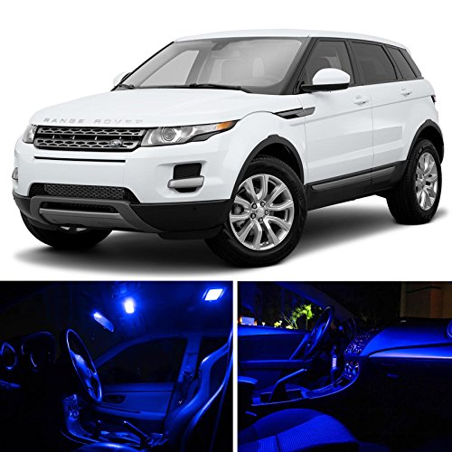 LEDpartsNow 2012-2015 Land Rover Range Rover Evoque SUV LED Interior Lights Accessories Replacement Package Kit (9 Pieces), - Land Lights Interior Rover