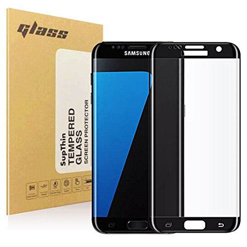Samsung Galaxy S7 Edge Screen Protector, SupThin [Case Friendly] Full Coverage 3D Tempered Glass Screen Film, Ultra Thin 0.25mm, Anti-Scratch, Easy Installation HD Ultra Clear