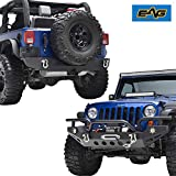 EAG 07-17 Jeep Wrangler JK Rock Crawler Front Bumper with...