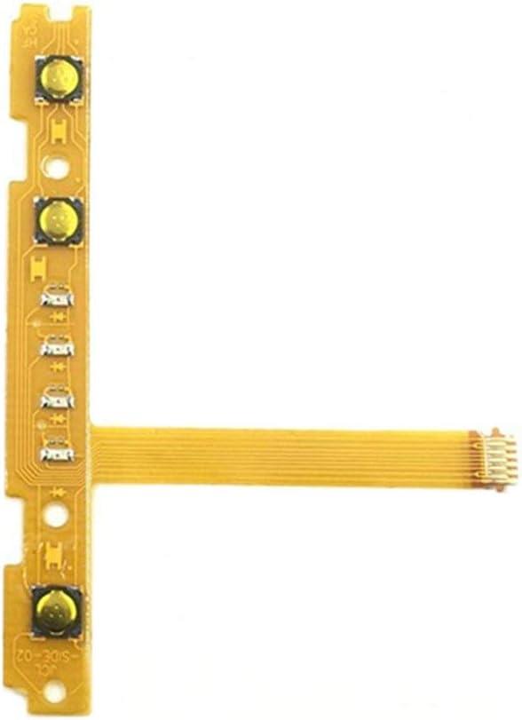 WEQQ Reparación del Cable Flexible L/R de la tecla del botón SL SR para el Controlador Joy-con del Interruptor Nintend (OrangeSL Izquierda)