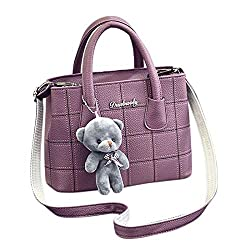 Shoulder Bags Women Handbag Shoulder Bags Tote Purse Cute Bear Pendant Leather Messenger Hobo Handle Satchel School Below Palace Tassel Soft Gucci Boys Nike That Designer Pouch Over G