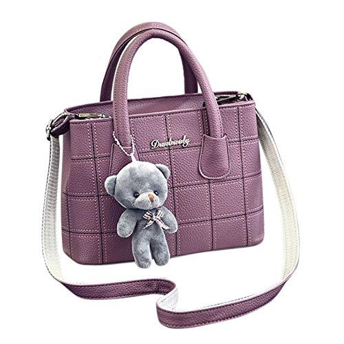 Shoulder Bags - Women Handbag Shoulder Bags Tote Purse Cute Bear Pendant Leather Messenger Hobo Handle Satchel - School Below Palace Tassel Soft Gucci Boys Nike That Designer Pouch Over G ()