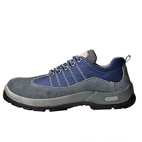 Optimal Women's Safety Shoes Work Shoes Steel Toe Shoes B071ZZ3FFP 8 B(M) US|Suede Gray