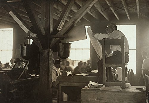 Cigar Factory 1909 Na Reader In A Cigar Factory In Tampa Florida Photograph By Lewis Hine January 1909 Poster Print by (18 x 24)