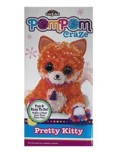 Own Kitty - EverydayKids Pompom Craze Fluffy Kitty - Made a Real Yarn Pom Pom Pet! Yarn Crafts for Kids.