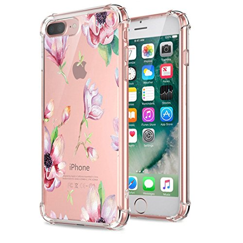 Price comparison product image Beryerbi iPhone 8 Plus Case Clear Soft TPU Anti-Drop Technology Protective Cover (iPhone 8 Plus, 4)
