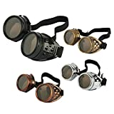 Agile-shop 4pcs Retro Vintage Victorian Steampunk Goggles Glasses Welding Cyber Punk Gothic Cosplay