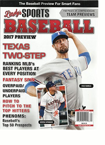 LINDY'S SPORTS BASEBALL MAGAZINE, 2017 PREVIEW TEXAS TWO-STEP