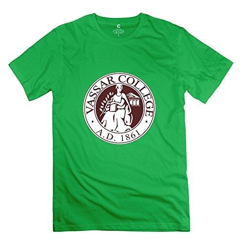 Leberts Vintage Vassar College T-Shirt For Men ForestGreen Size L (Honus Wagner Shirt compare prices)