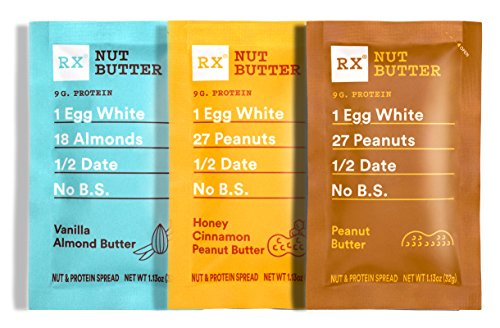 RXBAR, RX Nut Butter, Variety Pack, Low Carb, Keto Snack, No Added Sugar, Gluten Free,10 Squeezable Packs, 1.13 Ounce (Pack of 10)