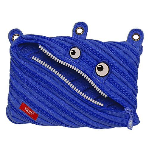 ZIPIT Monster 3-Ring Pencil Case, Royal Blue -