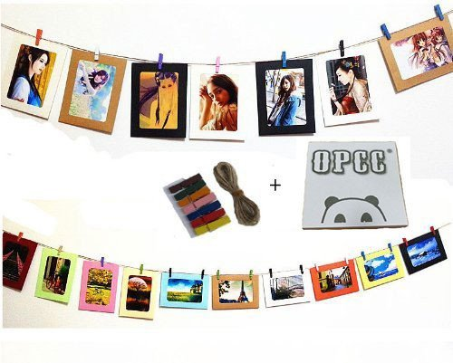 Paper Photo Frame with Mini Clothespins