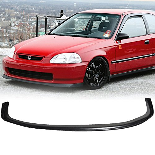 96-98 Honda Civic EK 2/3/4 Door SIR Style Add-On Front Bumper Lip ()