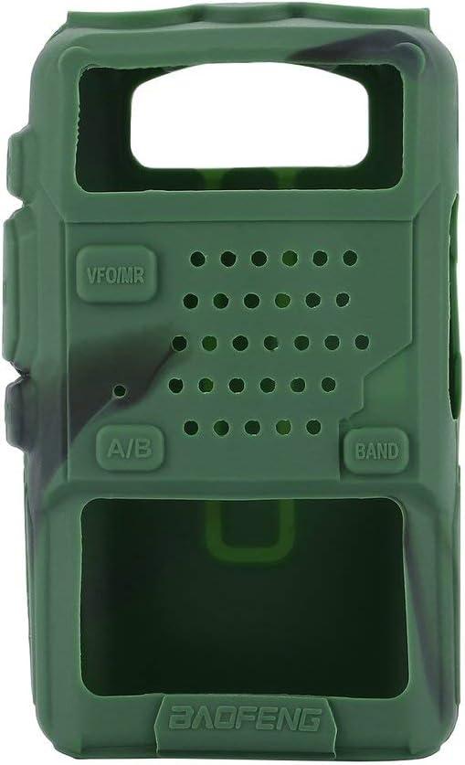 Cubierta de Goma de Silicona Walkie Talkie Cubierta de protección Shell para BAOFENG UV-5R - Verde: Amazon.es: Hogar