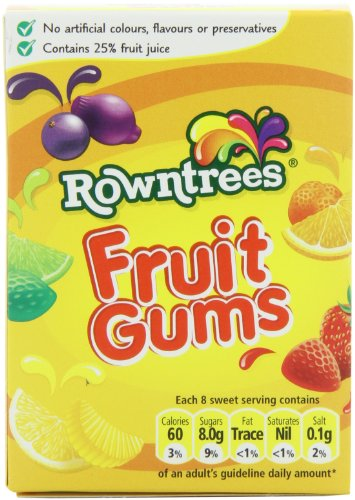 Rowntree's Fruit Gum Carton, 4.4-Ounce (Pack of 6) ()