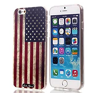SoloShow? iphone 5 5s Case Slim Durable and Transparent TPU Case + High Quality Polycarbonate with High-definition Pattern for Apple iphone 5 5s (Star Word Flag 28 )