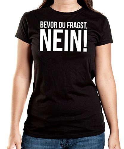 Bevor Du Fragst, Nein! T-Shirt Girls Black-S