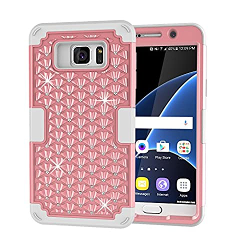 Galaxy S7 Case, GPROVA [Drop Protection] Bling Hybrid Three Layer Verge Shockproof Full-Body Protective Defender Case for Samsung S7 (Galaxy Speck 5s Case)