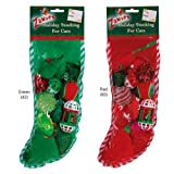 Grriggles Zanies Fun Filled Holiday Cat Stocking with Assorted Cat...